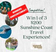 Winners $200 Sunshine Coast Travel Experience